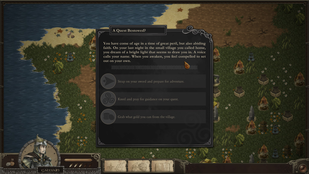 Early screenshot of the dialog system